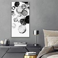 Artissimo Designs Black Rings II Canvas Wall Art