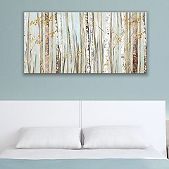 Artissimo Designs Birchscape Canvas Wall Art