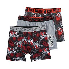 Boys 8-20 Star Wars 3 pkBoxer Briefs