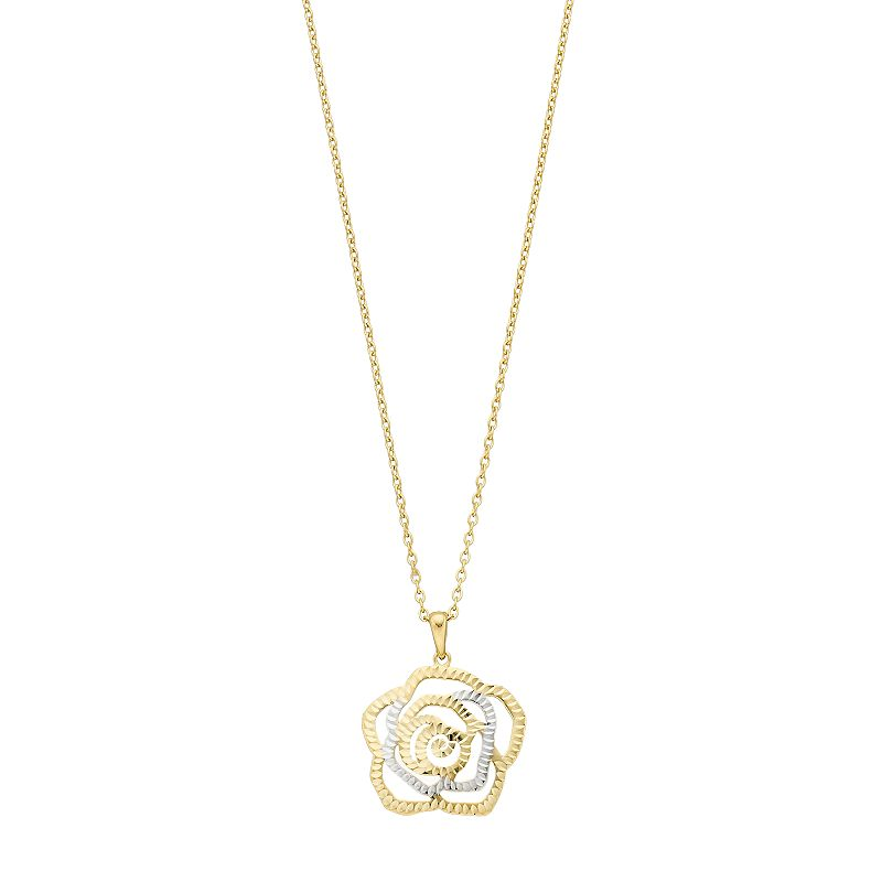 rose enhancer design medium white diamond l gold pendant products