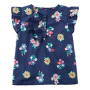Toddler Girl Carter's Ruffle Floral Top