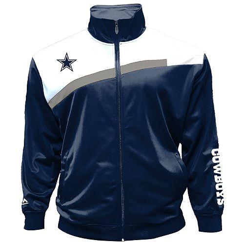 innovative design 5aafe df0c1 Big & Tall Majestic Dallas Cowboys Tricot Track Jacket