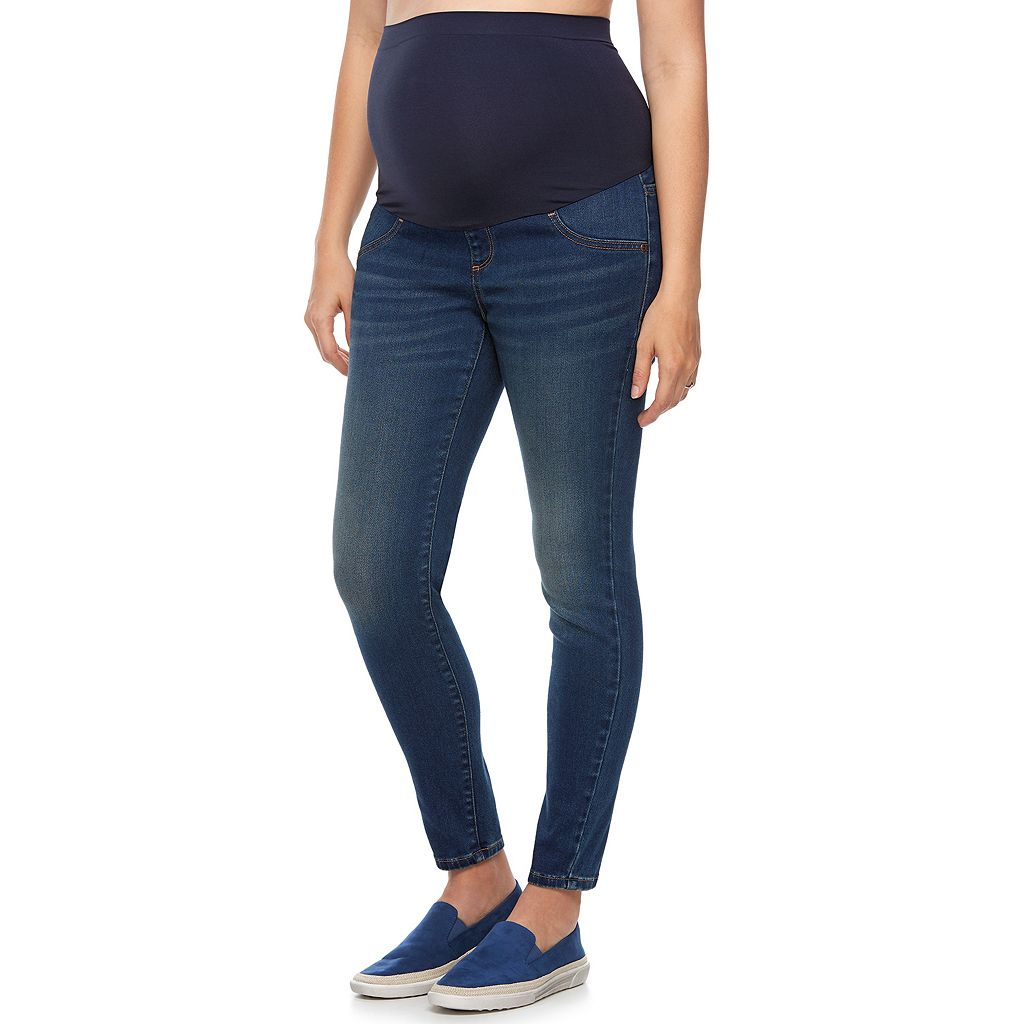 Maternity a:glow Full Belly Panel Crop Jeggings