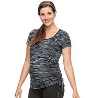 Maternity a:glow Drawstring Workout Tee