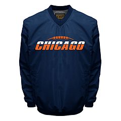 Men's Franchise Club Tone City Chicago Football Windshell Pullover Jacket