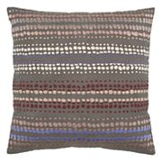 Rizzy Home Dotted Stripe Embroidered Throw Pillow