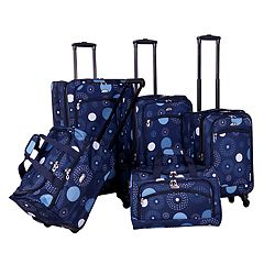 American Flyer Fireworks 5 pc Spinner Luggage Set