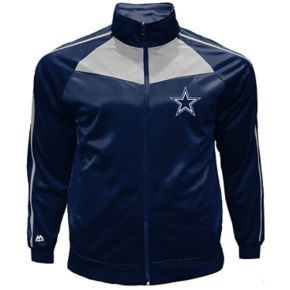 Big & Tall Majestic Dallas Cowboys Mesh Tricot Track Jacket