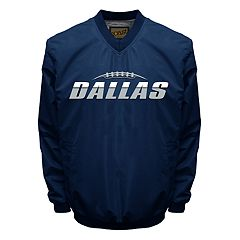 Big & Tall Franchise Club Tone City Dallas Football Windshell Pullover Jacket