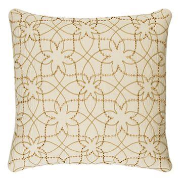 Rizzy Home Botanical Swirl Throw Pillow