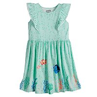 Disney's Finding Nemo Nemo, Dory & Marlin Girls 4-10 Pom-Pom Ruffle Trim Flutter Dress by Jumping Beans®