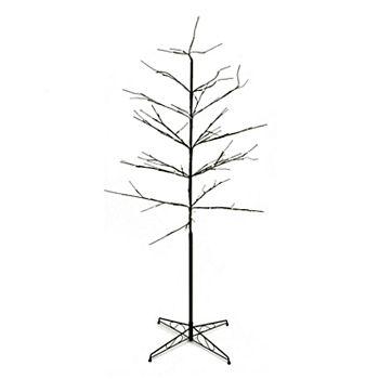 pre lit artificial twig indoor outdoor christmas tree - Pre Lit Outdoor Christmas Tree
