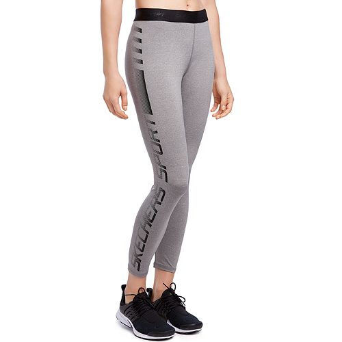 Women's Skechers Embossed Logo Ankle Leggings