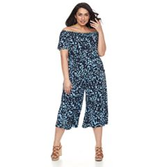 Plus Size Suite 7 Off-The-Shoulder Jumpsuit