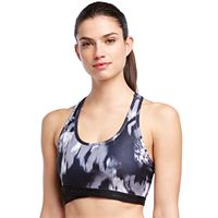 Skechers Bras: Flower Burst Print Medium-Impact Sports Bra 1404