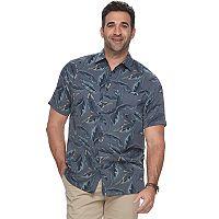 Big & Tall Croft & Barrow® Regular-Fit Soft Touch Microfiber Button-Down Shirt