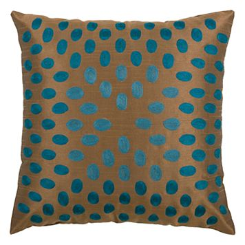 Rizzy Home Dots Embroidered Throw Pillow
