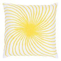 Rizzy Home Swirl Embroidered Throw Pillow