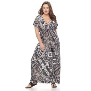 Plus Size World Unity Empire Maxi Dress