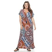 Plus Size World Unity Empire Maxi Dress
