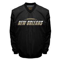 Men's Franchise Club Tone City New Orleans Football Windshell Pullover Jacket