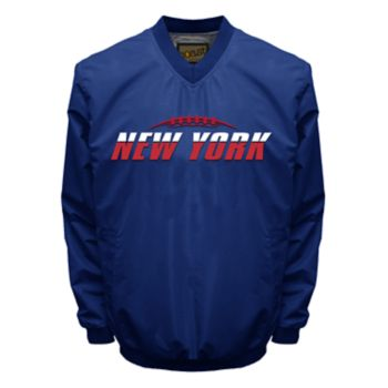 Men's Franchise Club Tone City New York Football Windshell Pullover Jacket