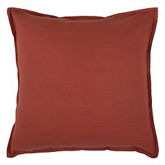 Rizzy Home Solid Flange I Throw Pillow