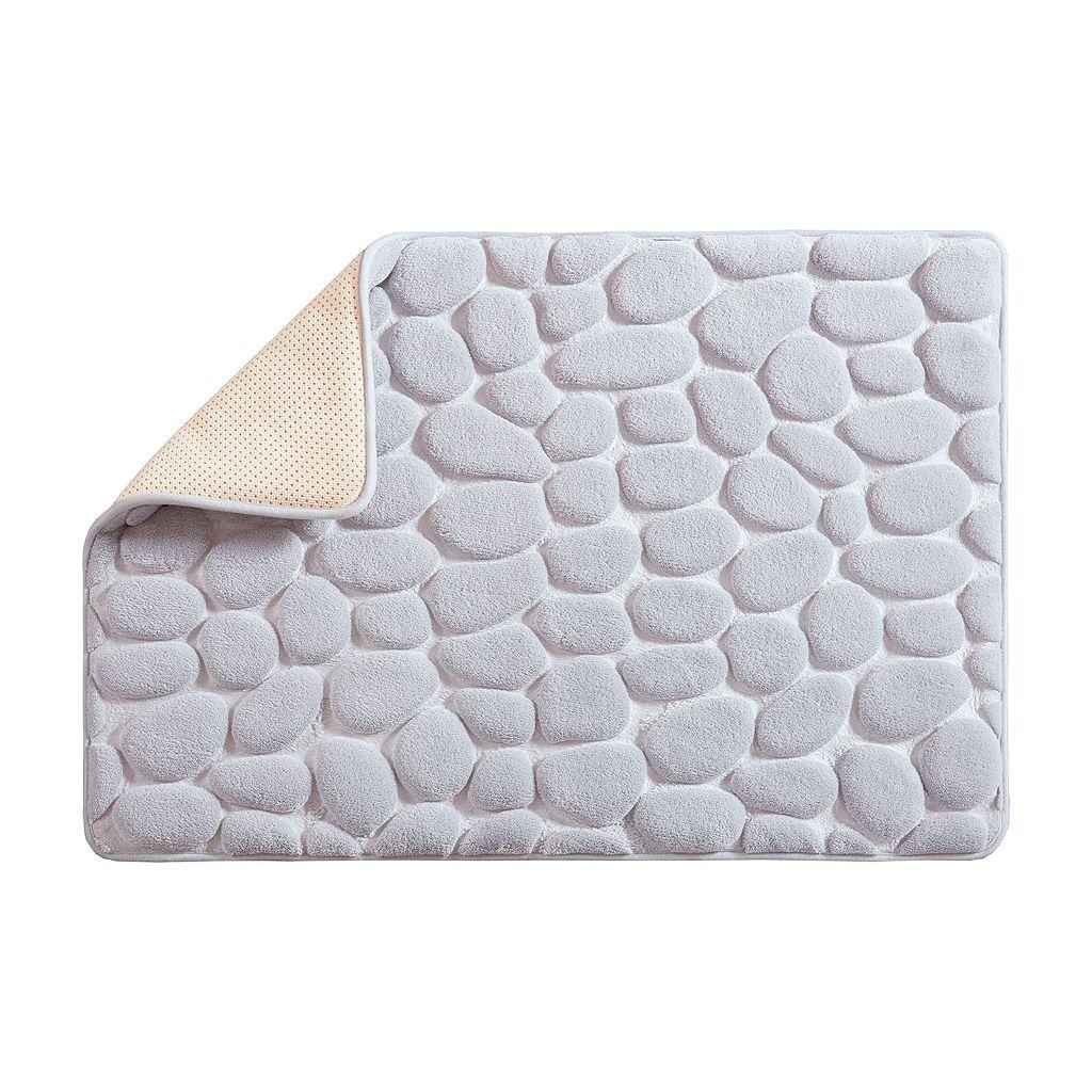 Madison Park Essentials Stone Embossed Memory Foam Bath Rug
