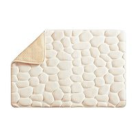 Madison Park Essentials Stone Embossed Memory Foam Bath Rug