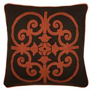 Rizzy Home Medallion Applique Embroidered Throw Pillow