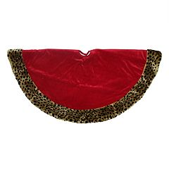 Northlight 48-in. Plush Cheetah Print Christmas Tree Skirt