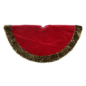 Northlight 48-in. Plush Cheetah Print Christmas Tree Skirt