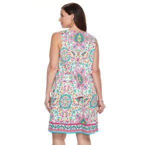 Plus Size Suite 7 Printed Shift Dress