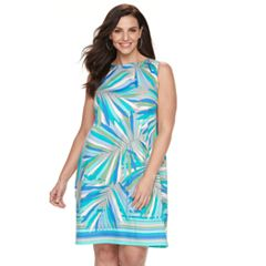 Plus Size Suite 7 Palm Shift Dress