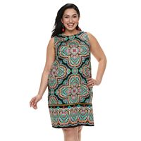 Plus Size Suite 7 Medallion Sleeveless Dress
