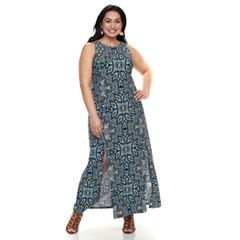 Plus Size Suite 7 Slit Maxi Dress