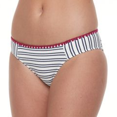 Mix and Match Textured Striped Hipster Bikini Bottoms