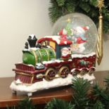 Northlight Santa & Train Snow Globe Table Christmas Decor