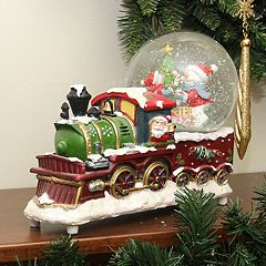 Northlight Santa & Train Snow Globe Table Christmas Decor