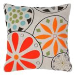 Rizzy Home Medallion Floral Applique Throw Pillow
