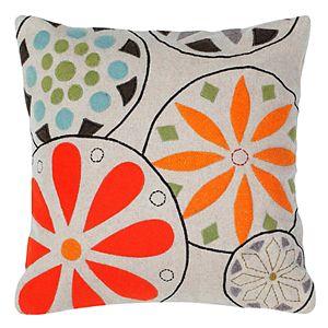 Rizzy Home Medallion Floral Applique Throw Pillow
