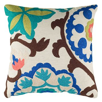 Rizzy Home Medallion Embroidered Throw Pillow