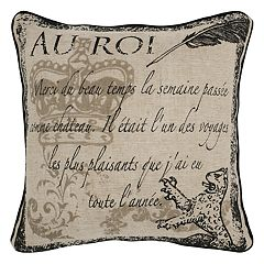 Rizzy Home Script Vintage Printed Throw Pillow