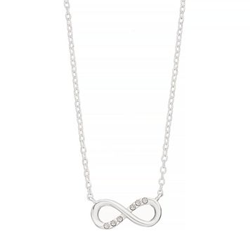 love this life Sterling Silver Crystal Infinity Pendant Necklace