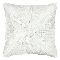 Rizzy Home Twisted Rouching Solid Throw Pillow