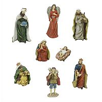 Northlight Nativity Scene Figure Christmas Decor 8 pc Set