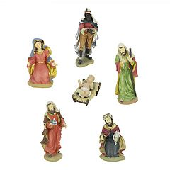 Northlight Nativity Scene Figure Christmas Decor 6-piece Set