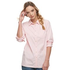Women's SONOMA Goods for Life™ Essential Poplin Shirt