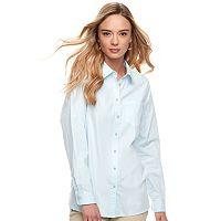 Women's SONOMA Goods for Life™ Essential Poplin Shirt