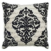 Rizzy Home Damask Script Printed Throw Pillow